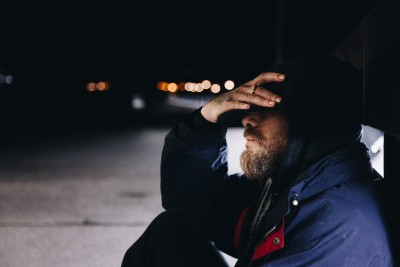憂鬱な男性