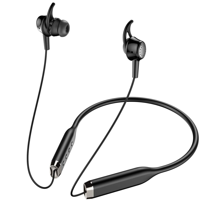 ワイヤレスネックバンド式イヤホン Bluetooth
