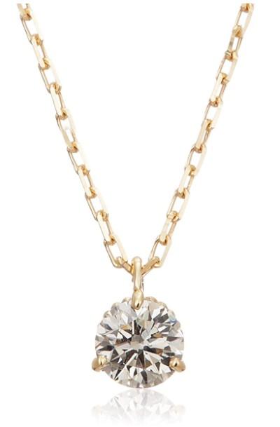アガット K18ダイヤモンドネックレス