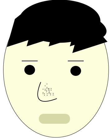 メンズ いちご鼻