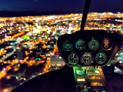 ヘリコプターで特別な夜景を