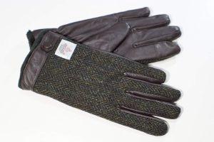 ハリスツイード レザー手袋