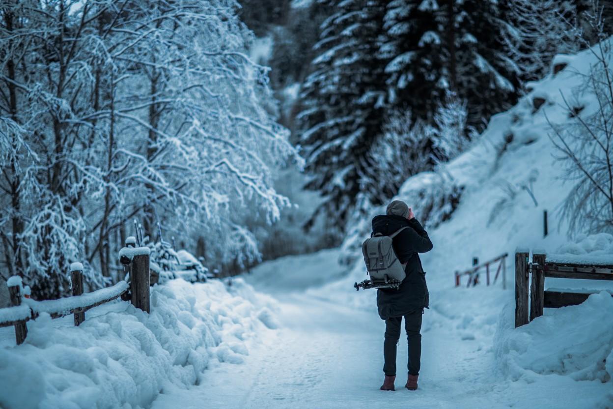 真冬のアウトドアに