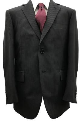 オールシーズン【大きいサイズ有】アジャスター付ウォッシャブルスーツ(濃紺ストライプ)