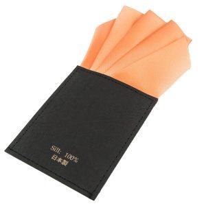 ポケットチーフ 台紙付き 15色 ワンタッチ ファイブピークス メンズ