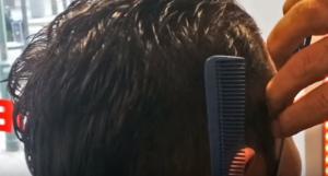 ②髪の毛の長さを調節します