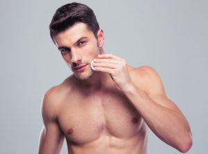 乾燥肌タイプの男性