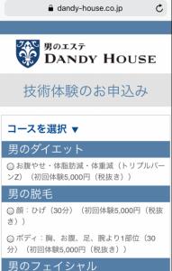 ダンディハウス申込②