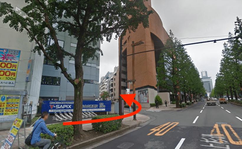 JR仙石線「あおば通駅」北6出口から最短ルートで行く方法