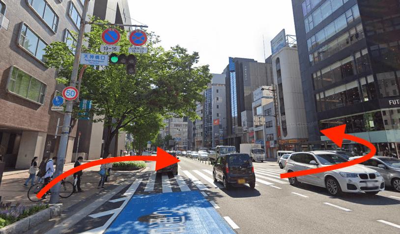 西鉄福岡駅出口から最短ルートで行く方法