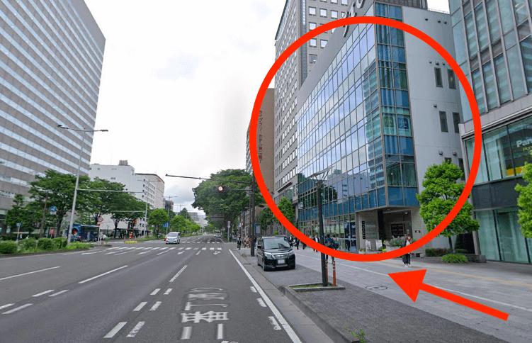地下鉄南北線「広瀬通駅」西口1番出口から最短ルートで行く方法